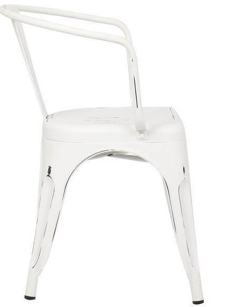 distressed white metal cafe chair 3 461x600