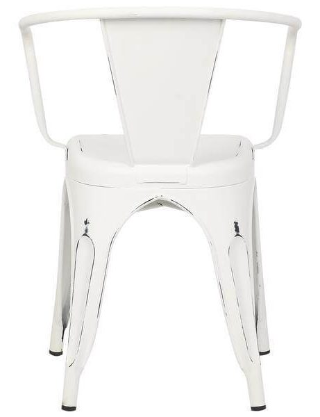 distressed white metal cafe chair 4 461x600