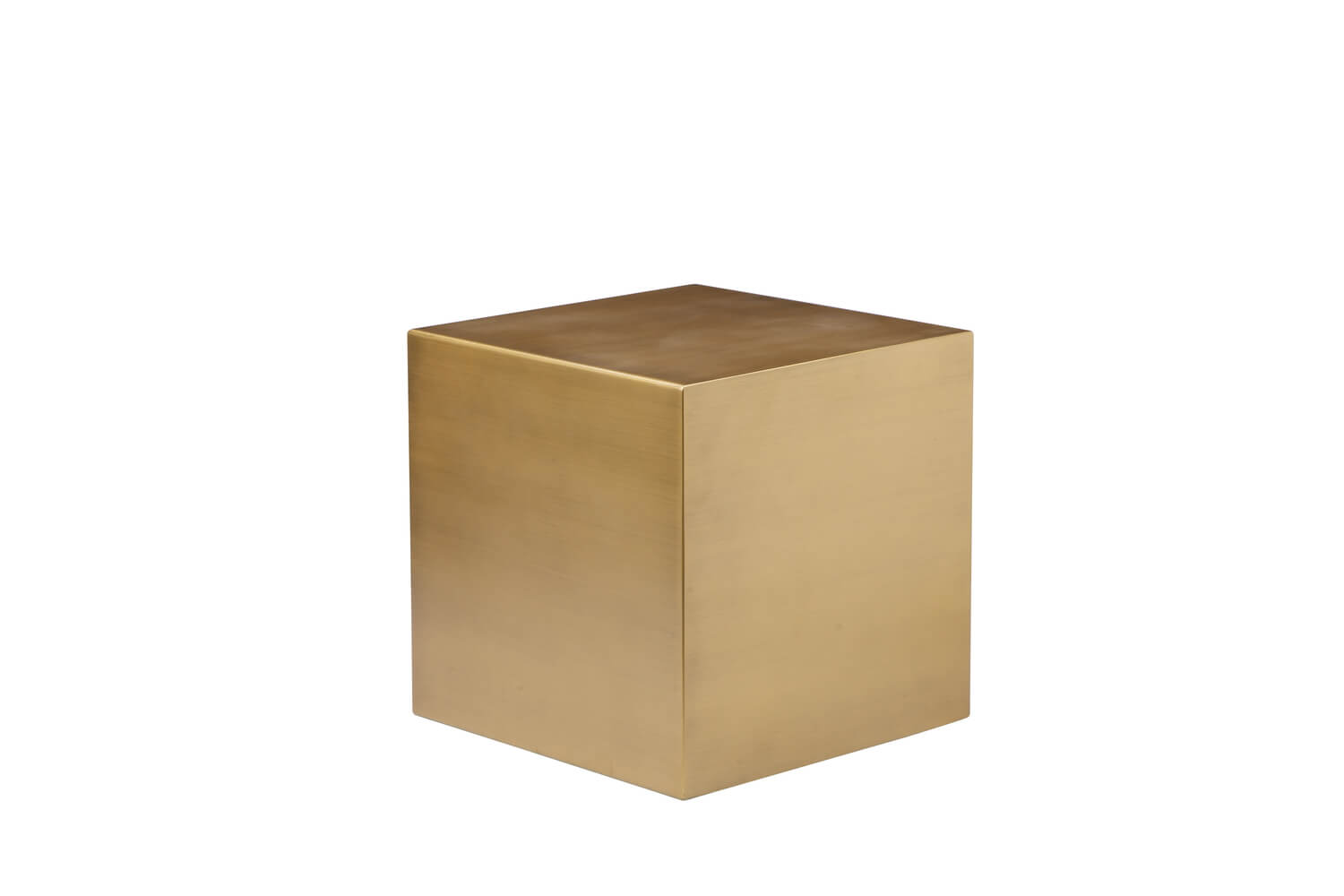 Homeu003eModern Tablesu003eAccent Tableu003eBrass Cube Side Table
