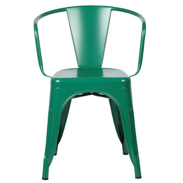 Green Metal Cafe Chair 2