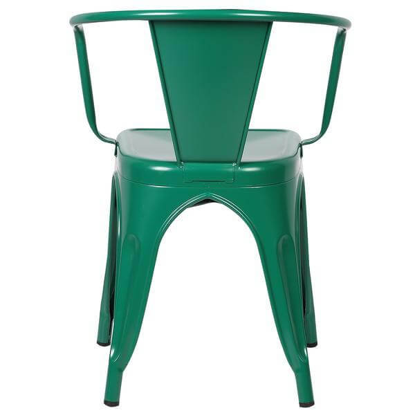 green metal cafe chair 4