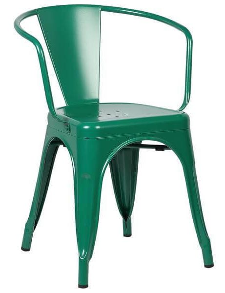 green metal cafe chair 461x600