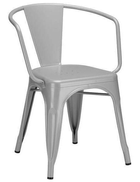 grey metal cafe chair 461x600