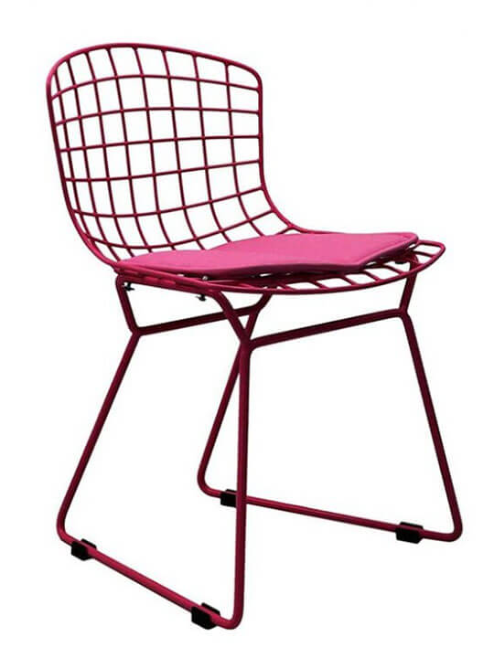 kids pink wire chair