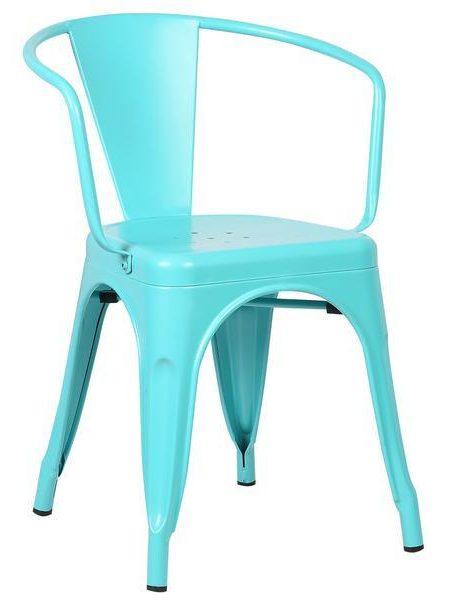 light blue metal cafe chair 461x600