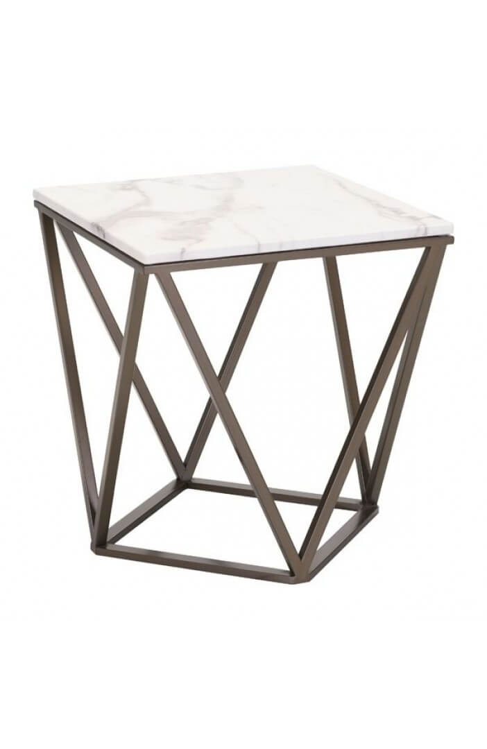 marble brass end table 2