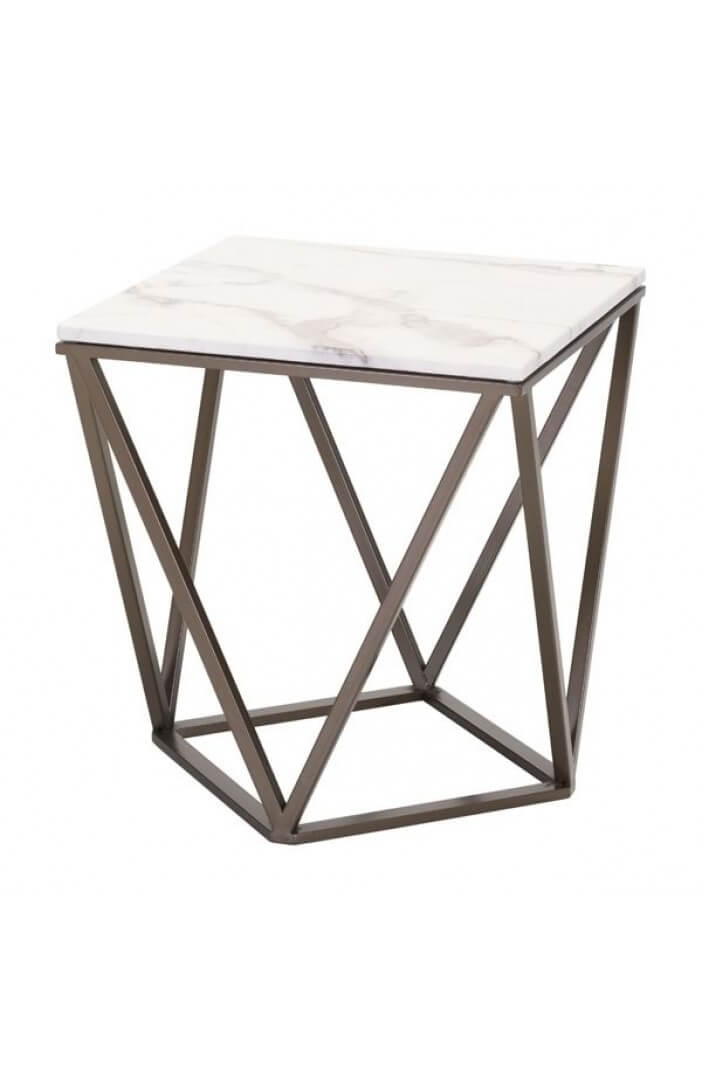 marble brass end table
