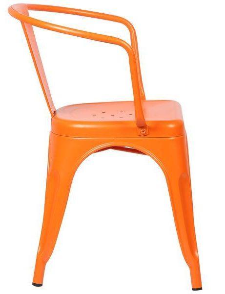 orange metal cafe chair 2 461x600