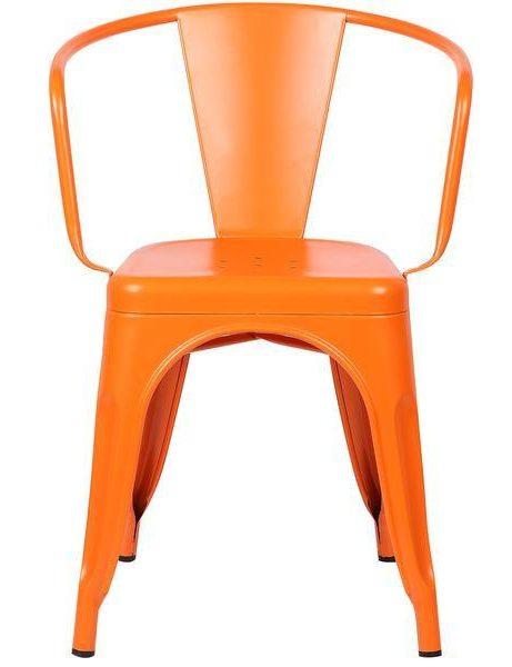 orange metal cafe chair 3 461x600