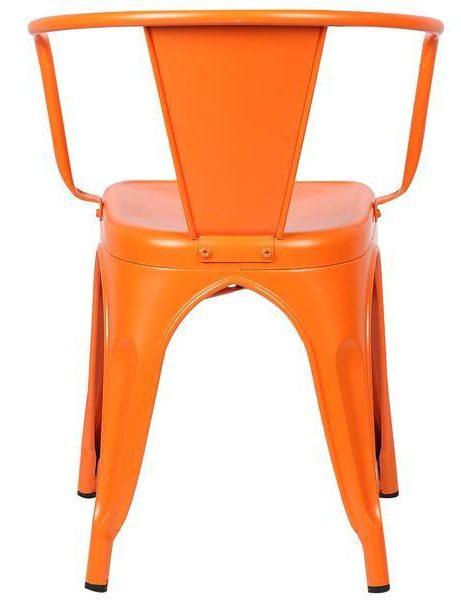 orange metal cafe chair 4 461x600