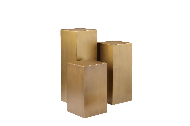 pedestal brass 3 set