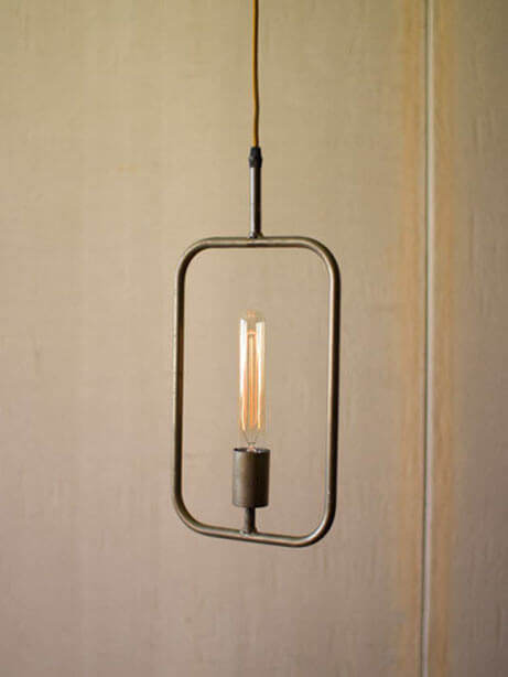 rectangle shape pendant light