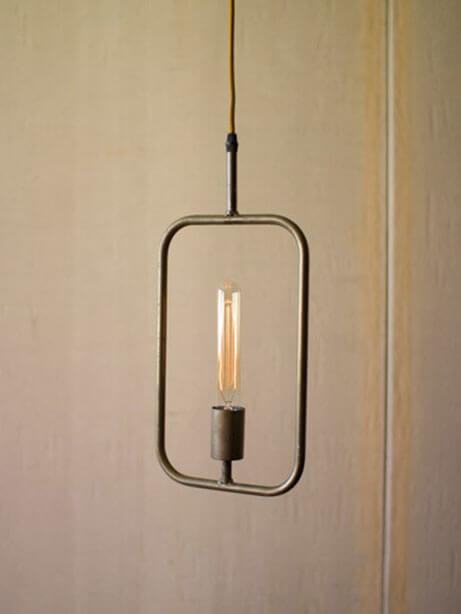 rectangle shape pendant light