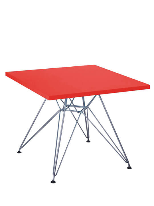 red kids wire table