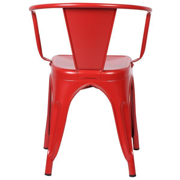red metal cafe chair 4
