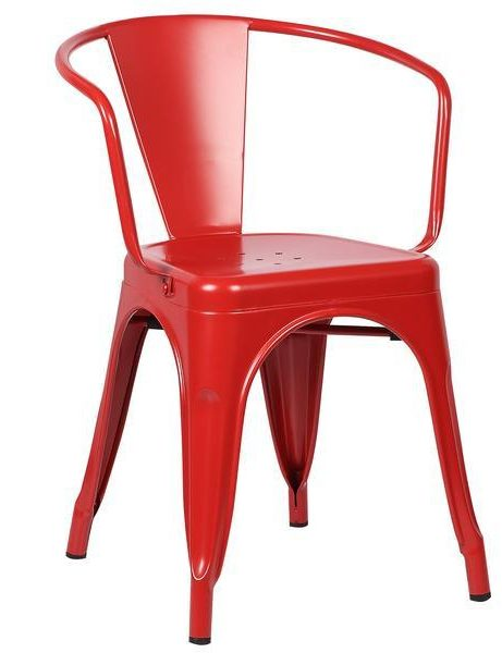 red metal cafe chair 461x600