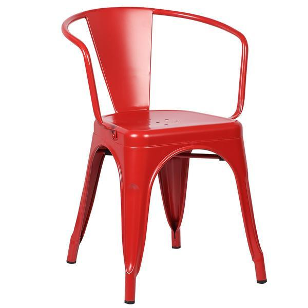 Superieur Red Metal Cafe Chair