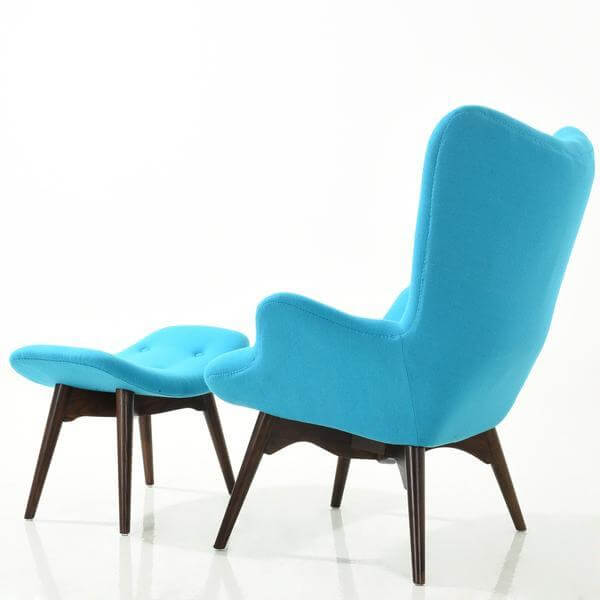 sky blue lounge chair