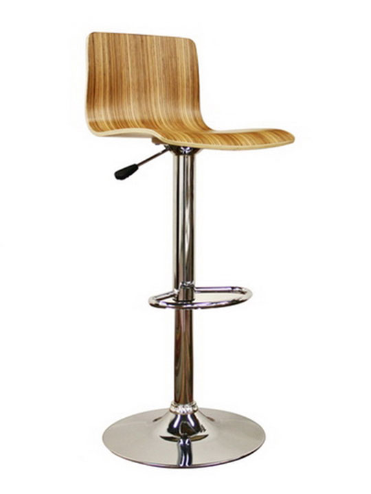 slide natural wood barstool