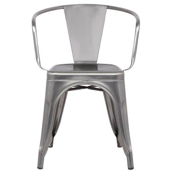 stainless steel metal cafe chair 2