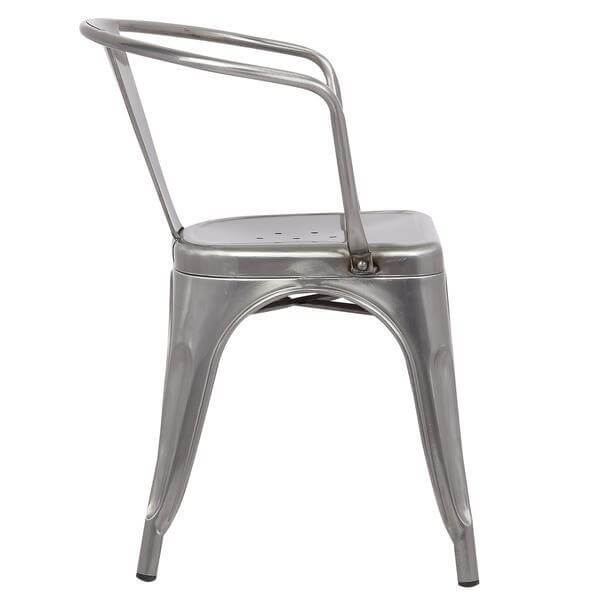 stainless steel metal cafe chair 3