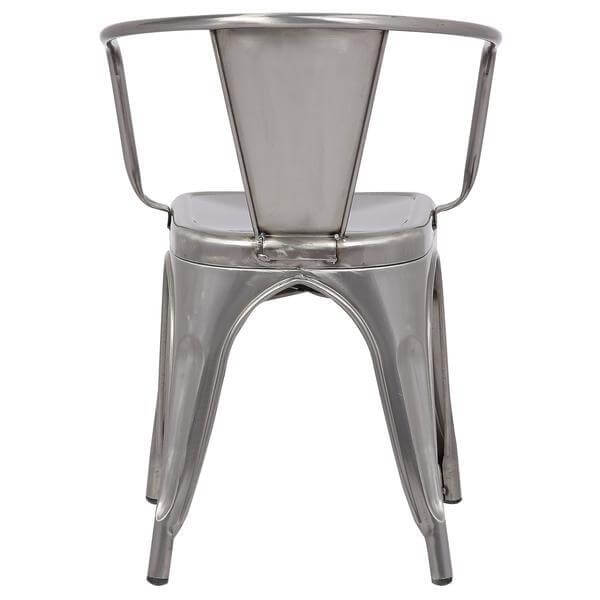stainless steel metal cafe chair 4