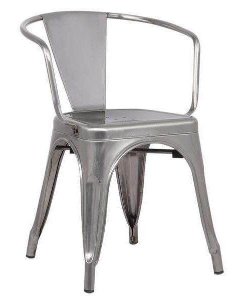 stainless steel metal cafe chair 461x600