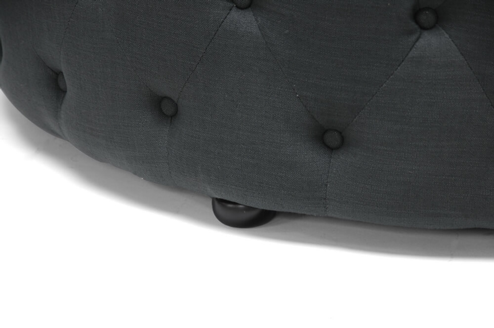 tufted large fabric ottoman grey 3