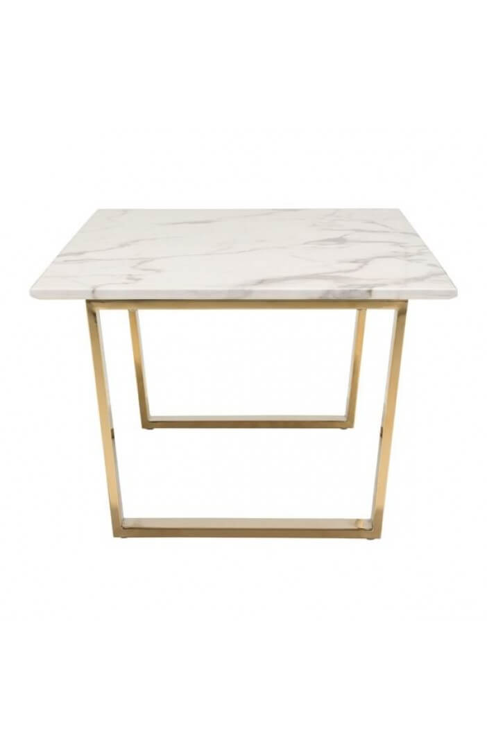 White Marble Gold Coffee Table Modern Furniture Brickell Collection