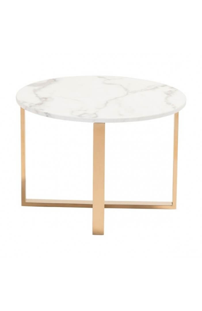white marble gold end table 2
