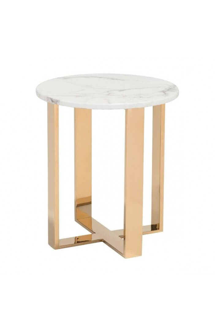 white marble gold side table 5