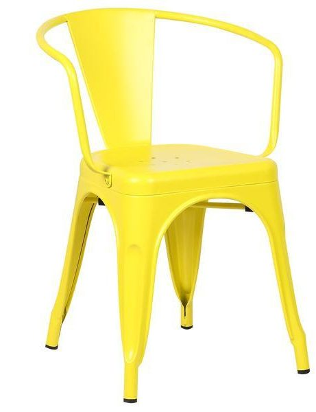 yellow metal cafe chair 1 461x600