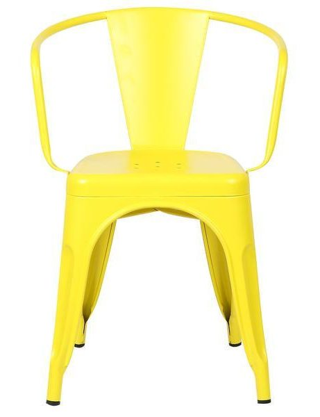 yellow metal cafe chair 2 461x600