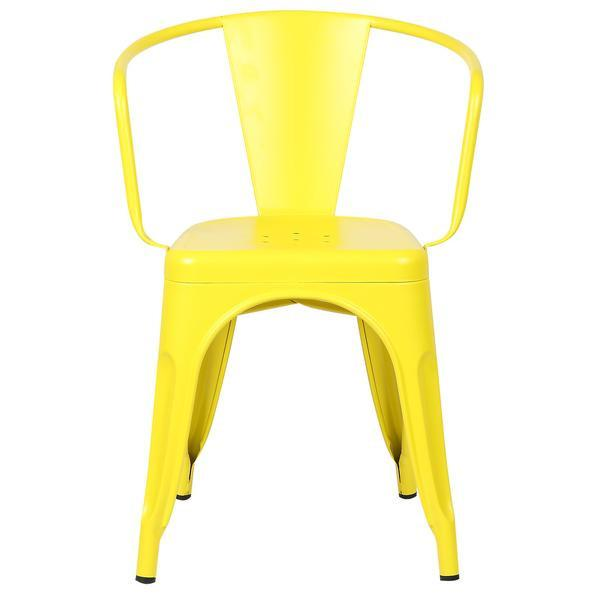 yellow metal cafe chair 2