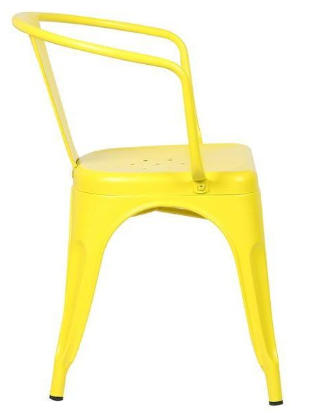 yellow metal cafe chair 3 461x600