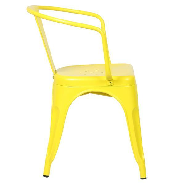 yellow metal cafe chair 3