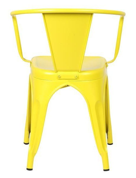 yellow metal cafe chair 4 461x600