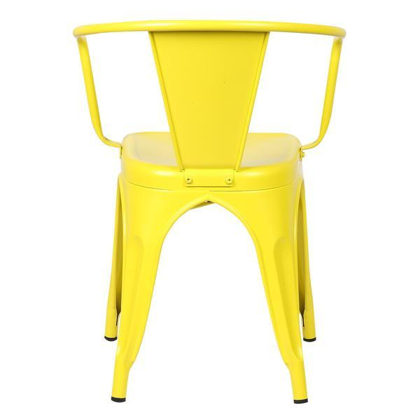 yellow metal cafe chair 4