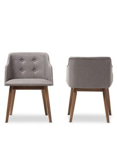 Adore Grey fabric mid century armchair 237x315