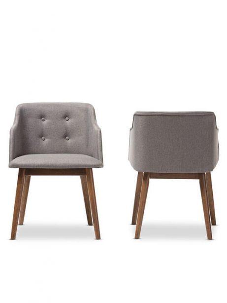 Adore Grey fabric mid century armchair 461x614