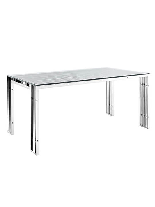 Brickell Chrome Dining Table