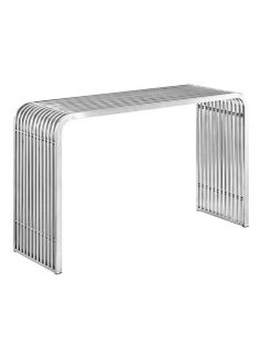 Chrome Curve Console Table 237x315