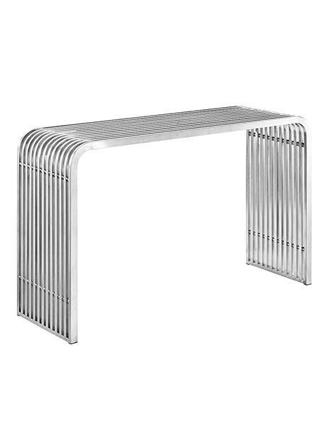 Chrome Curve Console Table