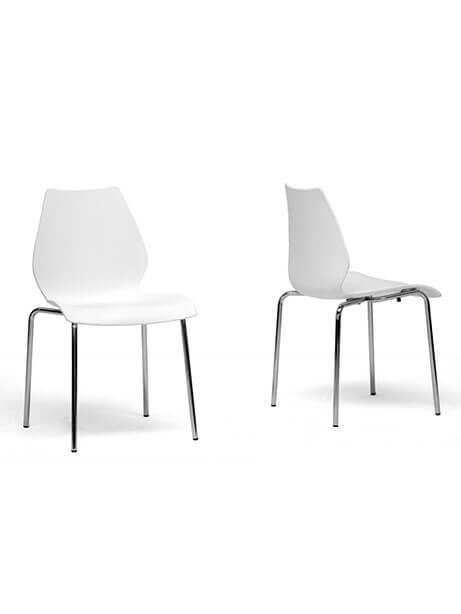 Cusp White Chair