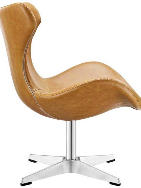 Swift lounge chair Tan leather 2 461x614