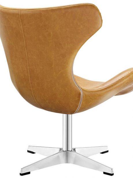Swift lounge chair Tan leather 3 461x614