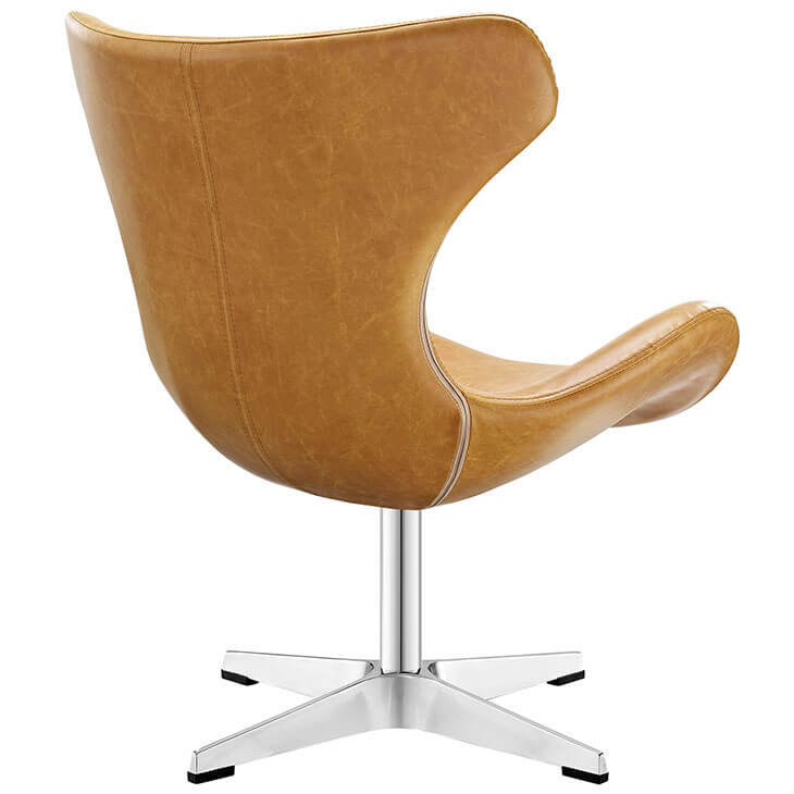 Swift lounge chair Tan leather 3