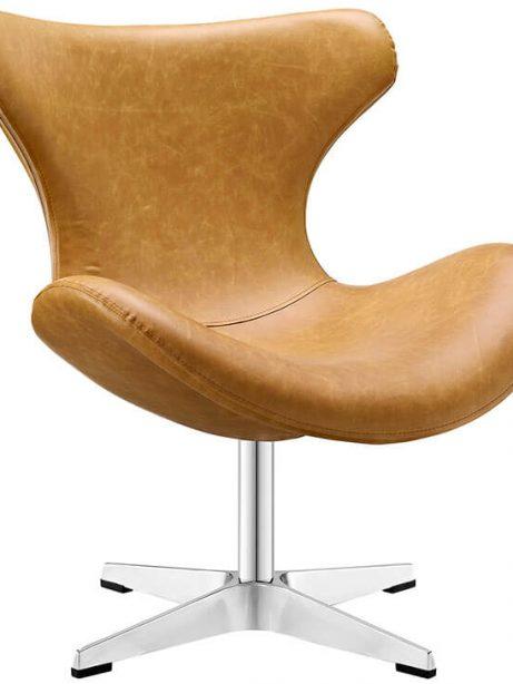 Swift lounge chair Tan leather 461x614