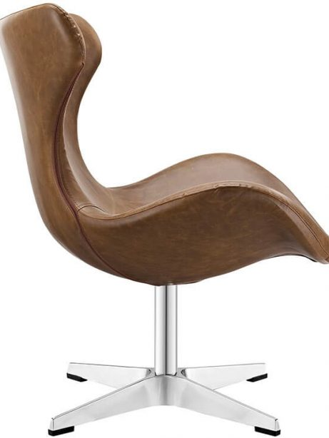 Swift lounge chair brown leather 461x614
