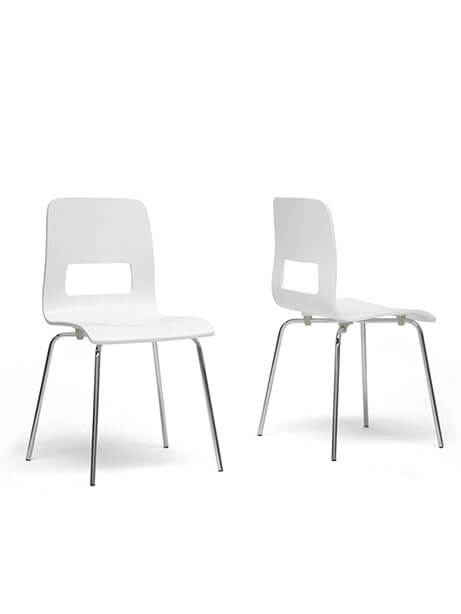 White Square Chair